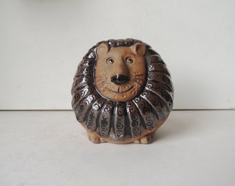 Ceramic Lion Bank Lisa Larson Style