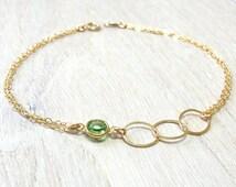 Birthstone bracelet, Personalized bracelet, Personalized Eternity bracelet, September birthstone, Mother Daughter gift