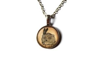 Raven pendant Bird jewelry Animal necklace NWR496