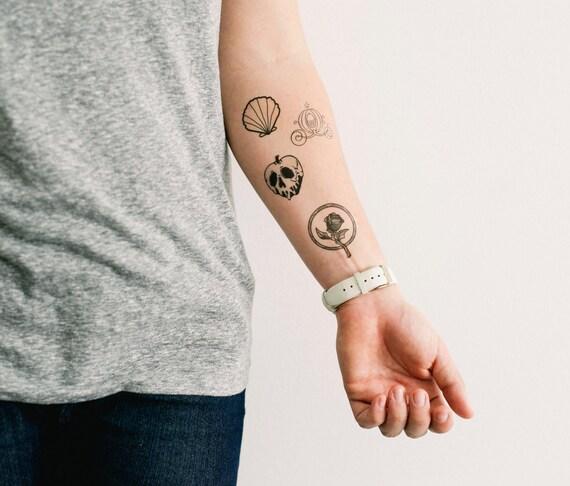 4 disney princess temporary tattoos for Disney temporary tattoos