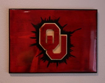 Handmade University of Oklahoma Sooners Plaque - Officially Licensed by the NCAA