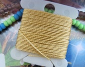 Champagne Beige Beading Cord Jewelry Heavy Duty String for Book Binding Twisted Nylon 288 Inches 7.31 Meters #18 Bead String S-Lon Size .5