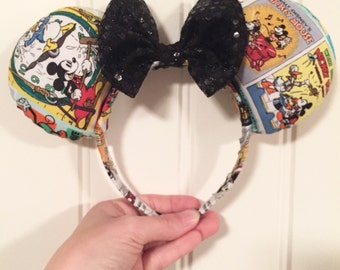 Vintage Mickey Cartoon Posters Mouse Ears
