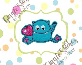 Love Monster Feltie Embroidery Design