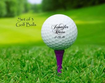 BRIDE and GROOM golf balls - custom golf balls - wedding golf balls - wedding gift for couple - golf wedding - personalized wedding gift