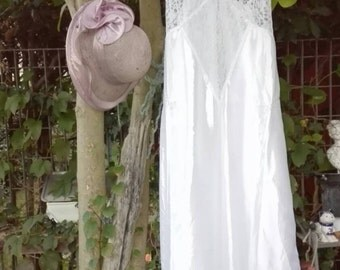 Shabby chic vintage white Nightgown