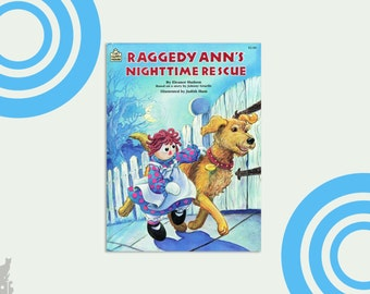 Raggedy Ann Book, Raggedy Ann's Nighttime Adventure by Johnny Gruelle and Eleanor Hudson, 1987 Hardcover, Baby Gift Idea