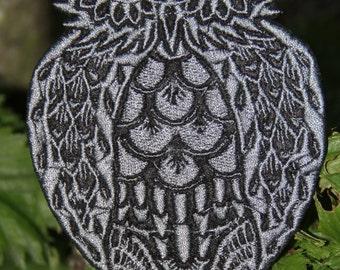 OWL Damask embroidery File