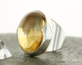 Citrine silver ring. Size 7.5. Natural Stone.