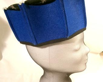 Medieval Cap, Men's Medieval Hat, Manesse Cap, Medieval hat with bee's, Ren Faire, LARP hat's