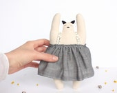 Doll decoration birth / grey and pattern /coussin / soft natural fabric / baby - kids - jingle bells