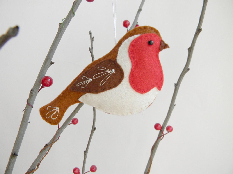 felt robin ornament felt christmas ornament robin bird