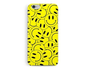 SMILEY FACE iPhone Case, 90s Rave, acid shirt, Cool iPhone 5 Case, Hard Plastic iPhone 4 case, RAVE iPhone Cover, neon cell case, 90s grunge