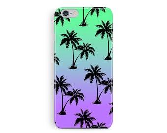 PALM TREE iPhone Case, Sunset iphone Case, California iPhone Case, Hawaii Phone Case, Surfer iPhone Case, Gradient iPhone Case, Beach Babe