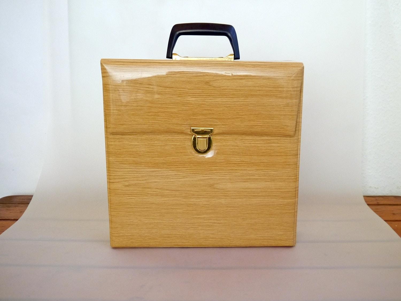 vintage vinyl koffer fall datensatz feld lp lagerung. Black Bedroom Furniture Sets. Home Design Ideas