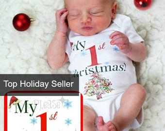 Newborn Christmas Outfit First Christmas Outfit Newborn Baby My First Christmas Outfit Baby's First Christmas Xmas Outfit