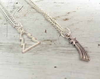 Gravity Falls Inspired Mystery Twins Friendship Necklaces