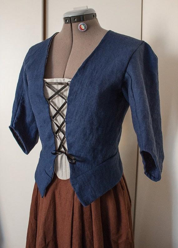 Claire Fraser Randall jacket and skirt, choose size and colour! Cosplay Historical costume Outlander Sassenach 18th century
