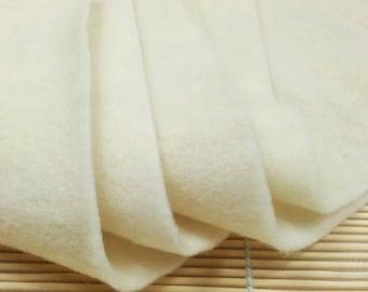 Pre Felt - 100% wool, natural white colour for wet felting and needle felting