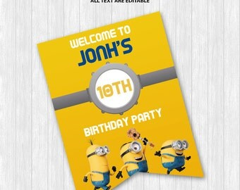 Minions Welcome Sign