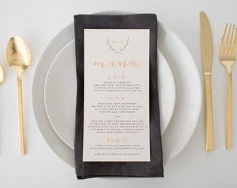 nora wedding menus (sets of 10)  // lola louie paperie