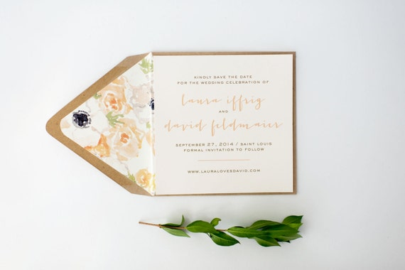 laura save the date invitation - customizable (sets of 10)  //  lola louie paperie