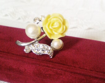 Flower ring adjustable ring large ring costume ring statement ring