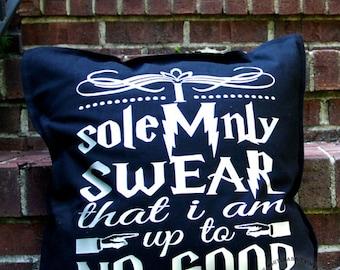 Harry Potter Pillow Cover I Solemnly Swear I'm Up To No Good Mischief Managed pillowcase dorm uni nursery hogwarts