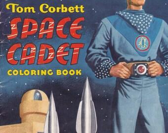 Vintage 1950 Tom Corbett Coloring Book - Uncolored, Condition: VG