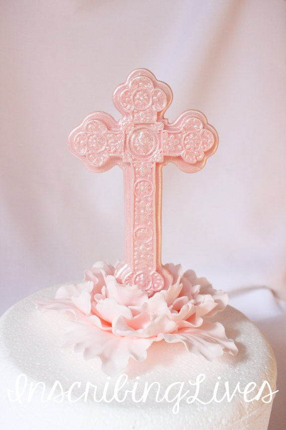 cross cake topper cross cake topper edible fondant communion baptism 3193