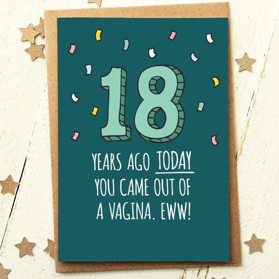 Funny Birthday Card 18th Birthday Card Funny Friend Card