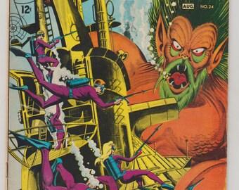 Sea Devils; Vol 1, 24, Silver Age Comic Book.  VF-. August 1965.  DC Comics