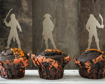 Pirate Cupcake, Pirate Theme, Pirate Theme Party, Pirate Party, Pirate Party Cupcake Toppers, Pirates of the Caribbean Themed Cupcakes
