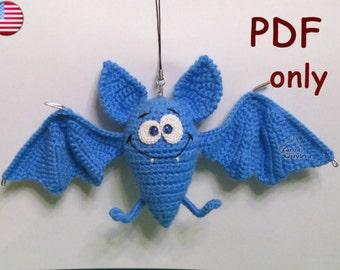 Funny Bat, amigurumi crochet pattern