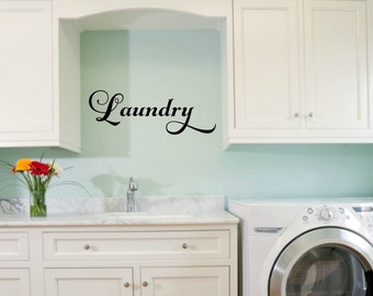 Laundry Room Vinyl Laundry Decal Laundry Wall Decal Laundry Vinyl Decal  Laundry Door Decal Laundry Room Part 93