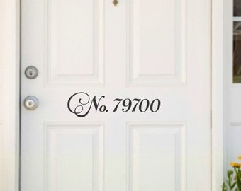 Front Door Numbers Address Decal Door Address Front Door Decal Number Decal For Door Vinyl Decal Door Number Decal Vinyl Address Decal