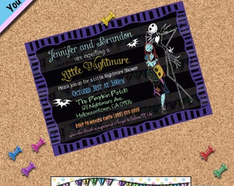 Nightmare before Christmas BABY SHOWER INVITATION Party