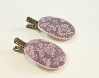 Geometric hair pins- Bobby pins for womens and girls- Floral hair clips- Artisan hair pins for girls- Polymer clay hair pins- Short hair pin