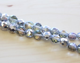 10X7MM Electroplate Glass Beads