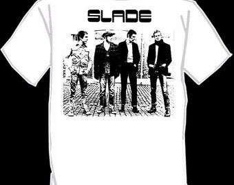 SLADE screen printed t-shirt SILK SCREENED glam rock shirt