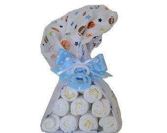 Diaper Stork with a pacifier - Yellow/ Green / Blue/ Pink OR Any Color