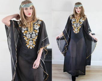 20% OFF Embroidered Bohemian Kaftan Dress from the Philippines