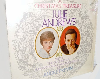 A Christmas Treasure Julie Andrews Vinyl LP Record Album LSP-3829 With The Orchestra , Harpsichord & Arrangements of Andre Previn