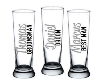 1 Personalized Groomsmen Mugs, Groomsmen Beer Mugs, Grooms Mug, Groomsmen Gift, Best Man Gift