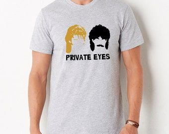 Hall and Oates Private Eyes t-shirt men unisex screen print tee tshirt 80s music