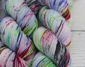 Merino - Nylon -  Sock - Superwash Merino - Yarn -  Wool - Narcissistic Cannibal - Hand Dyed - Speckled