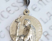 Medal - Saint Dominic - Sterling Silver - 26mm