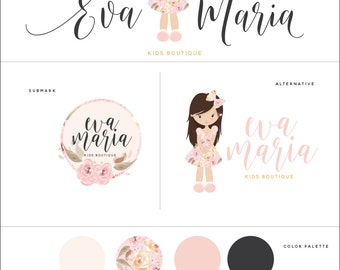Adorable Little Girl Logo Pack - All You Need In One - Brand Pack - Perfect For Your Small Business!