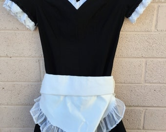 Handmade Vintage French Maid Costume Size Small