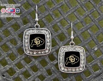 Colorado Buffaloes Square Earrings